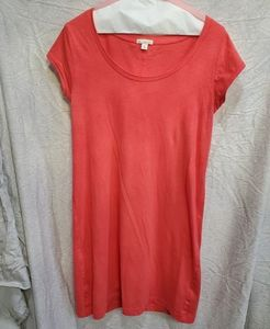 Coral gap tee shirt dress